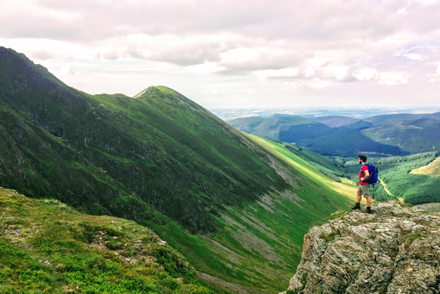 Tom Young explorer and filmmaker in Lake District