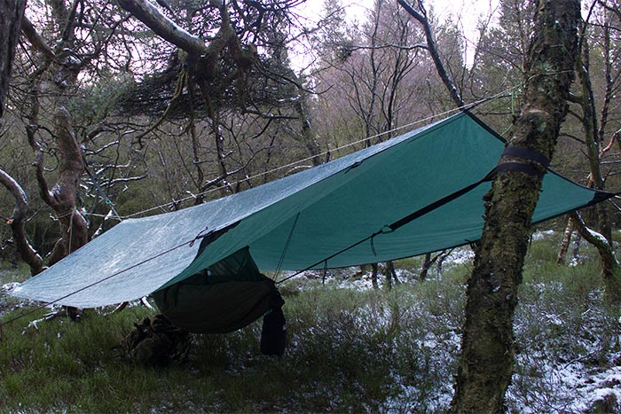 DD tarp and hammock in the frost - by Mark Skiba