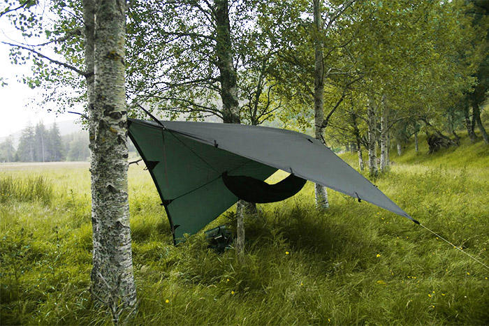 DD hammock and tarp set up in Scotland - by Martin Dlabaja