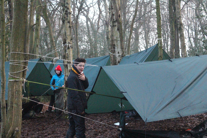 2nd Hitchin Air Scouts camping