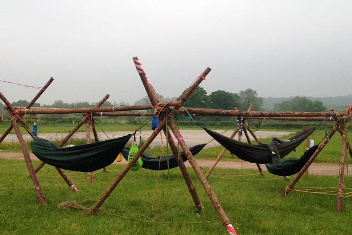 DIY rig for DD Camping Hammocks bySomerset Explorer Scouts