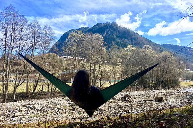 DD SuperLight Hammock in the mountains, France