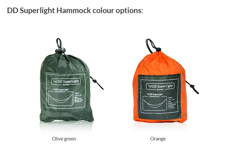 DD SuperLight Hammock available in two colours