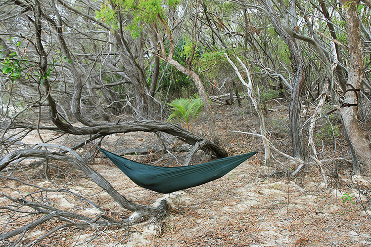 DD SuperLight Hammock at the beach