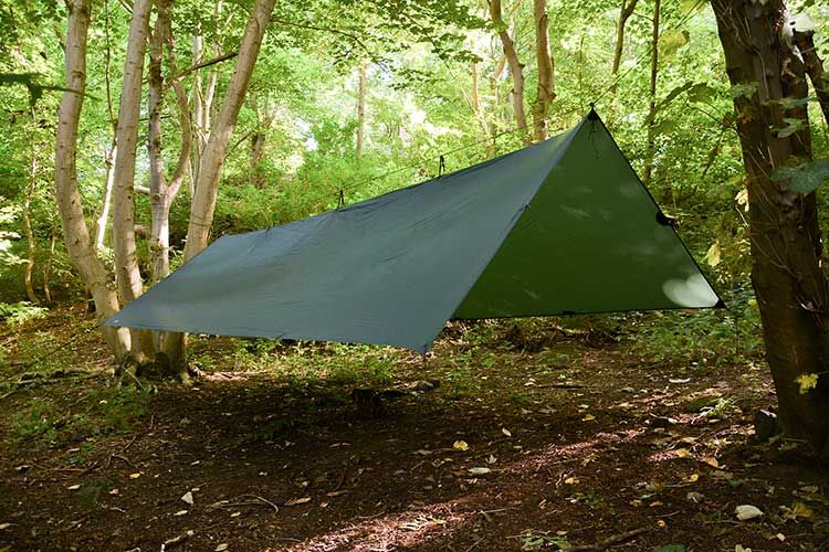 DD Superlight tarp XL a-frame set-up