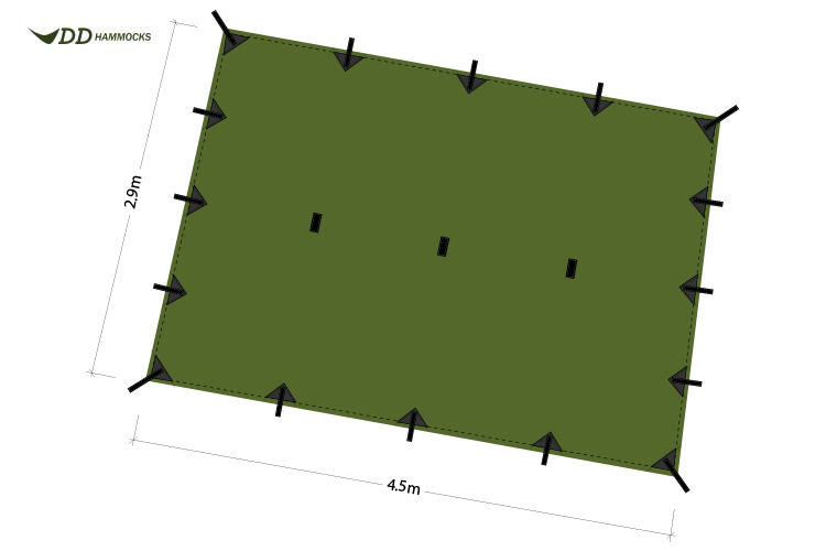 DD Superlight tarp XL diagram