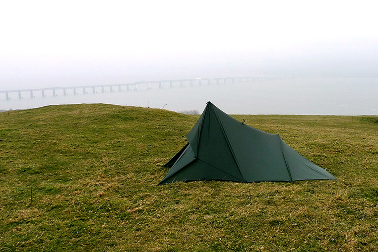 DD Superlight Tarp set up as a tent