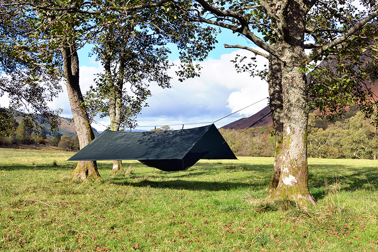 DD Superlight Tarp set up near Ben Nevis in Scotland