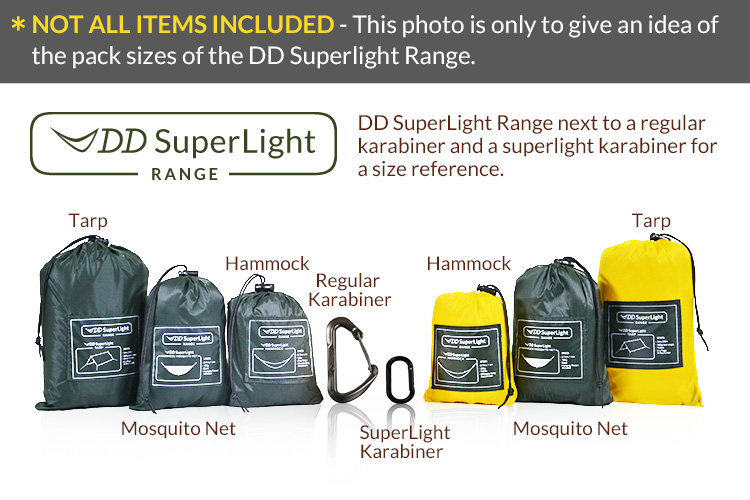 Complete DD Superlight Range packed up in the bags