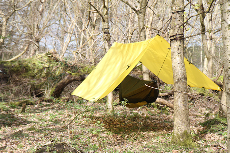 DD Superlight Range in sandstorm yellow colour set up in the woods