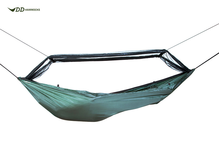 DD Frontline Hammock with mosquito net rolled up