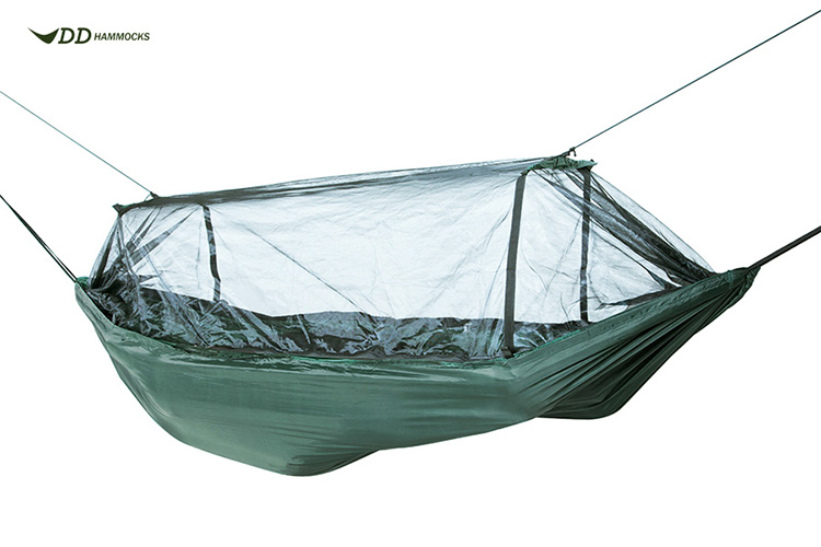 DD Frontline Hammock with mosquito net suspended