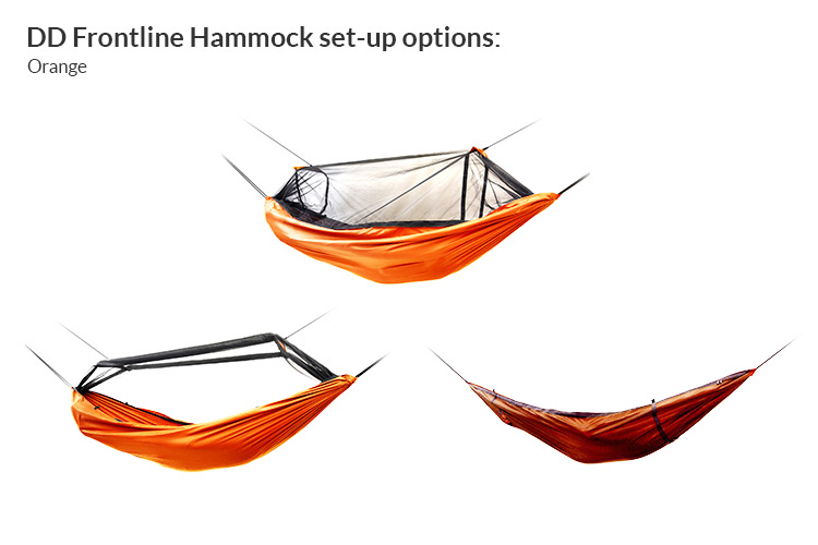 DD Frontline Hammock set-ups - orange