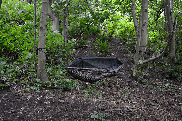 DD Frontline Hammock MC multicam in the woods