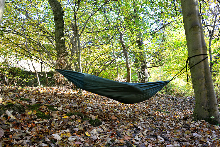 DD Scout Hammock set up outdoors