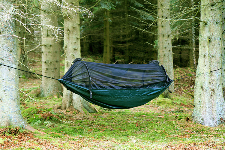 DD XL Frontline Hammock in the trees