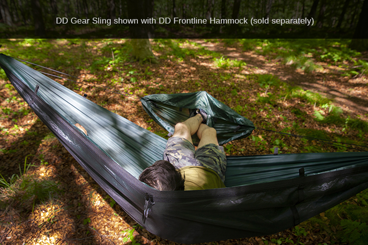 DD Gear Sling used for footrest