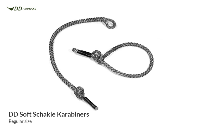 DD Soft Shackle Karabiners - for use in lightweight hammock suspension