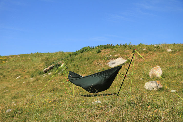 Ultralight Hammock Stand set up