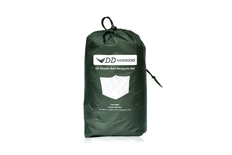 DD Double Bed Mosquito Net packed up in a stuff sack