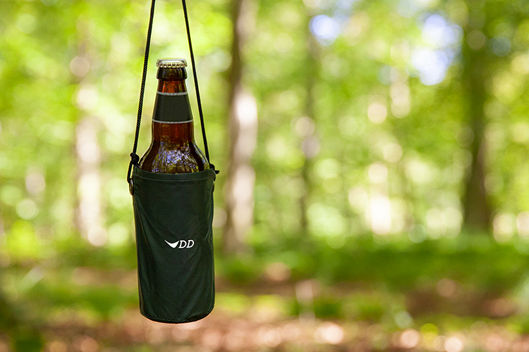 DD hammock beer holder hanging from hammock