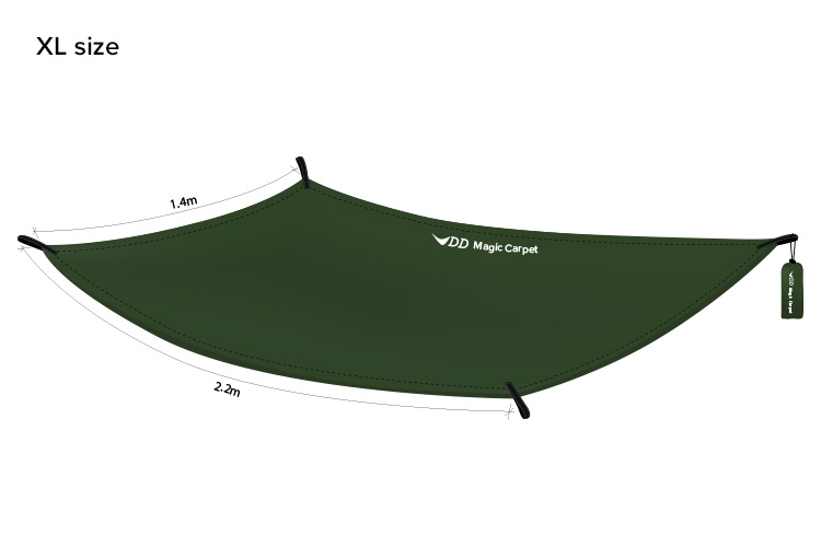 DD Magic Carpet diagram - XL siza