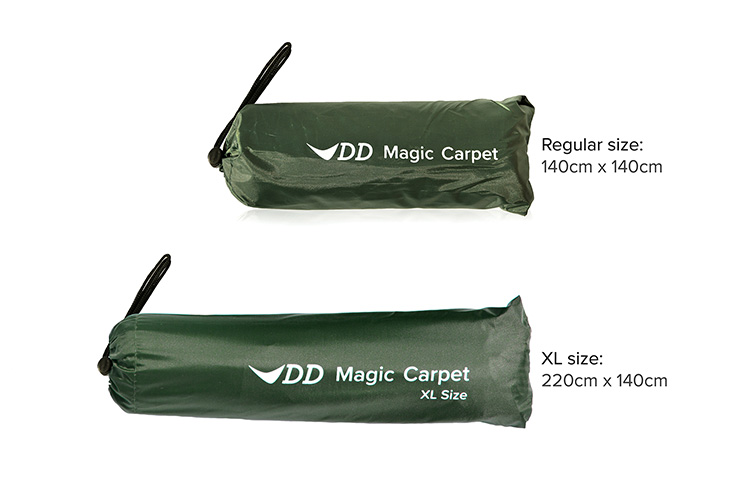 DD Magic Carpet packed in a bag - 2 different sizes
