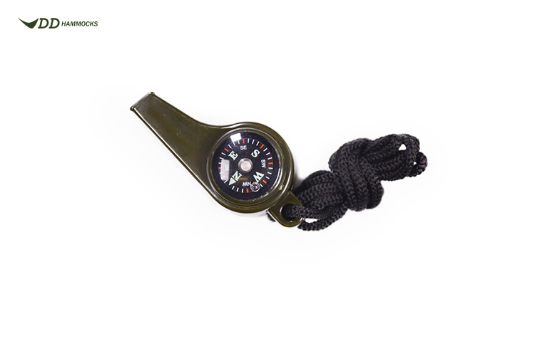 DD Whistle with lanyard, compass and thermometer