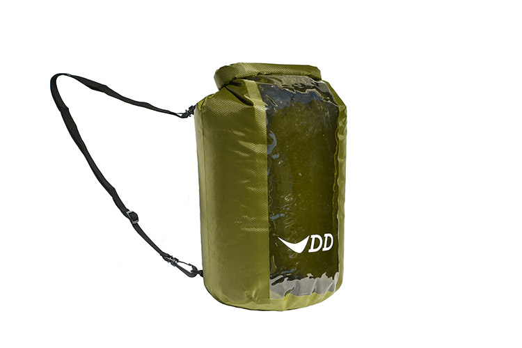 DD Dry Bag 20L showing the shoulder strap