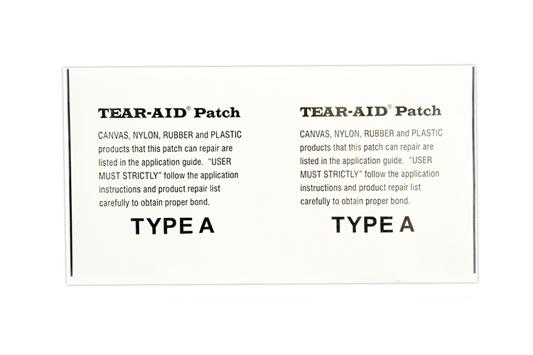 Tear-aid patch for tarp repairs