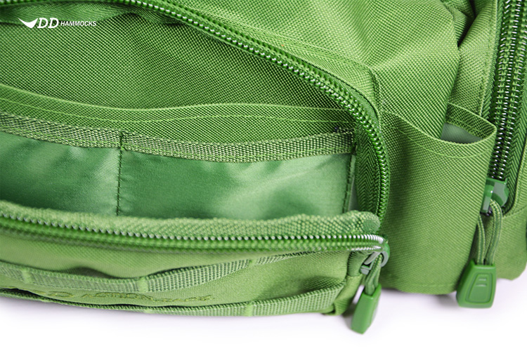 DD Action Pack close up of front pocket