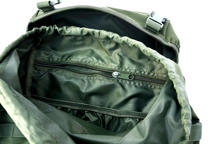DD Bergen Rucksack plus Action Pack internal pockets
