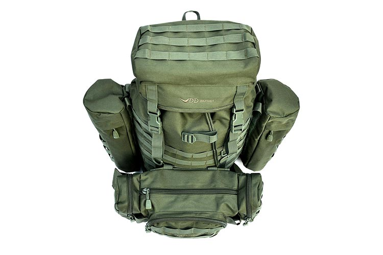 DD Bergen Rucksack plus Action Pack - 55L MOLLE-compatible hiking backpack