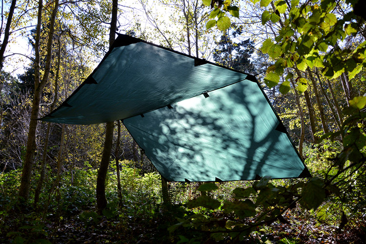 DD Tarp 3x3 setup outdoors