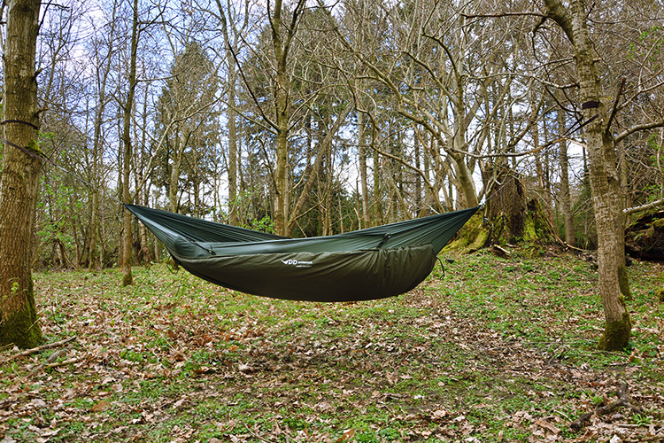 DD Underblanket used beneath hammock as insulation