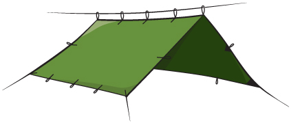 The Most Common Set Up For Hammock Camping.
